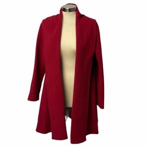 Eileen Fisher Wool Cashmere Shawl Collar Coat